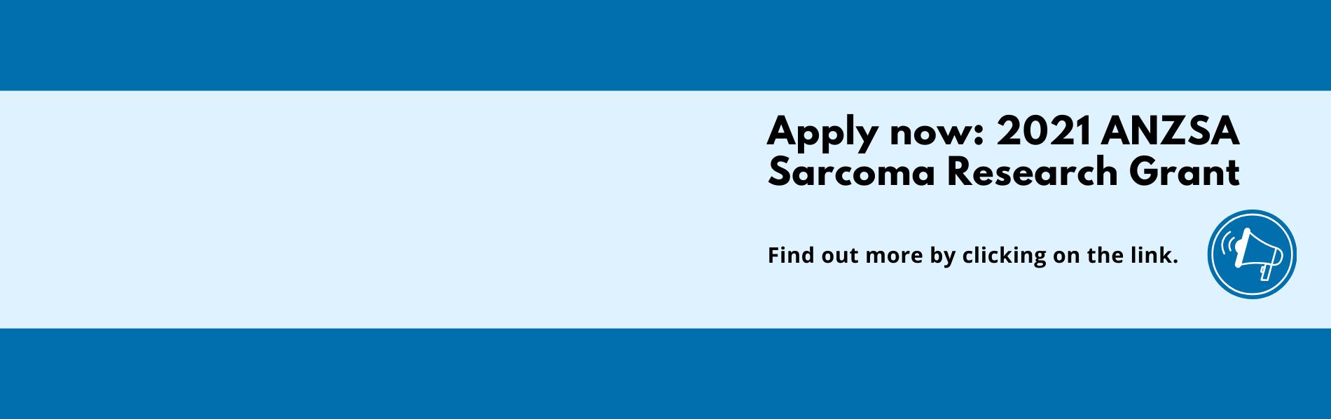 Apply - 2021 ANZSA Sarcoma Research Grant